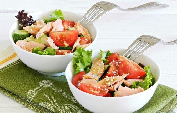 Салат с рыбой и овощами — пошаговый рецепт с фото