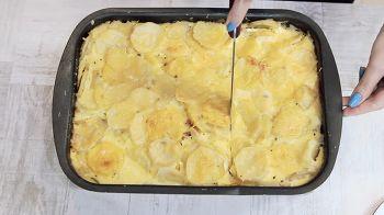 Гратен из картофеля с рыбой 10 шаг
